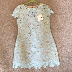 NWT. Blue flower mini dress